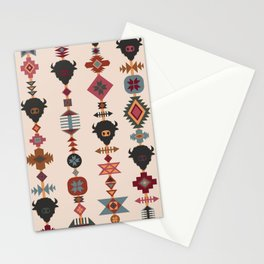 American Prairie Ethnic Tribal Seamless Pattern Stationery Cards