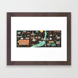 LeRoy, NY, Birthplace of Jell-O Framed Art Print