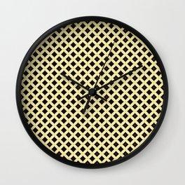 Batik Kawung Brown Ethnic Pattern Wall Clock