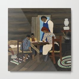 African American Masterpiece 'Giving Thanks' by Horace Pippin Metal Print