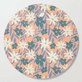 Just Peachy Floral Cutting Board