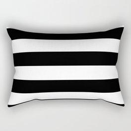 Black and White Stripes Pattern Rectangular Pillow