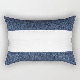 Nautical Blue & White Stripes Rectangular Pillow