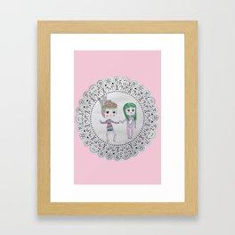 Cute couples Framed Art Print