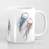 jellyfish Mugs featuring JellyFish by Ana Grigolia