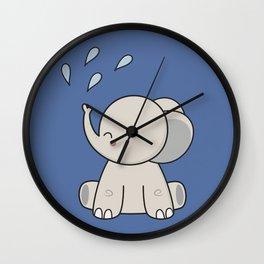Kawaii Cute Happy Elephant Wall Clock