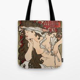 "Alphonse Mucha ""Salon des Cent (Salon of the Hundred)"", 1896 Tote Bag"