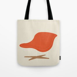 Orange La Chaise Chair by Charles & Ray Eames Tote Bag