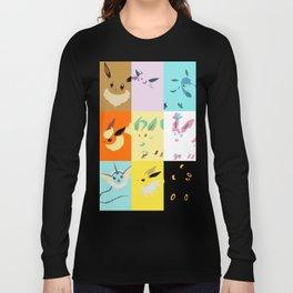 Eevee evolutions square- Eeeveelutions PKMN Long Sleeve T-shirt