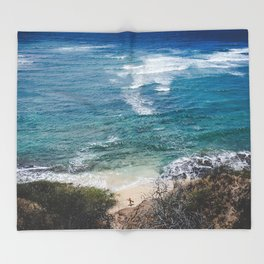 Surfer meets Sea - Diamond Head / Oahu / Hawaii Throw Blanket