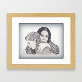 Katniss and Primrose  Framed Art Print