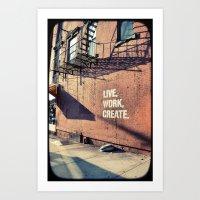 brooklyn Art Prints featuring Brooklyn by Lorenza D. Walker