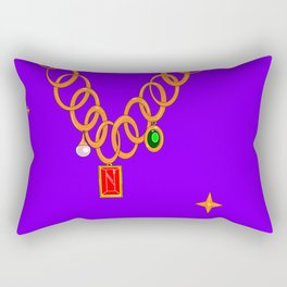 Necklace, bling, precious gems Rectangular Pillow