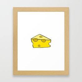 CHEESE FOR SMILE Framed Art Print