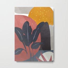 Tropical Abstract Art I Metal Print