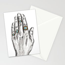 The Bejeweled Artist's Hand Stationery Cards