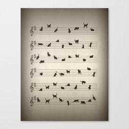 Cute Conceptual Cat Song Music Notation Canvas Print