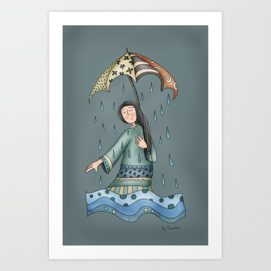Sad blueness Art Print
