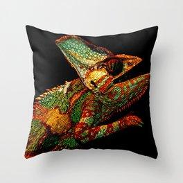 KARMA CHAMELEON Throw Pillow