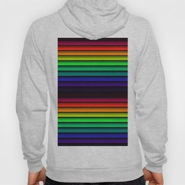 Spectrum - Rainbow Stripes - Colorful - Manafold Art Hoody