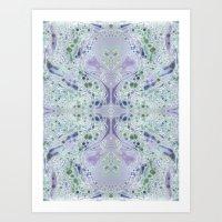 Patterned Marbling Art Print