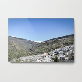 Pueblos Blancos with Sierra Nevada Metal Print