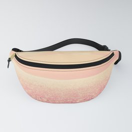 Dreamy Champagne Pink Sparkling Ocean Fanny Pack