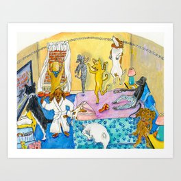 Party Party In the Hotel Room Art Print
