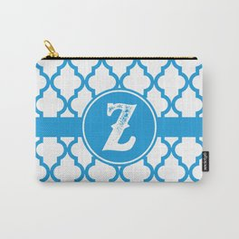 Blue Monogram: Letter Z Carry-All Pouch
