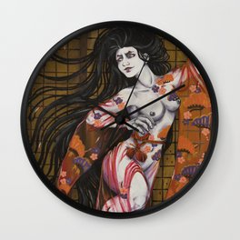 Hari Onna Wall Clock