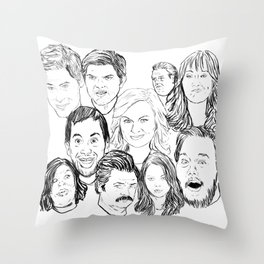 Parks and Recreation 'Rec a Sketch' Throw Pillow