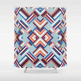 Herringbone Pattern No.2 Shower Curtain