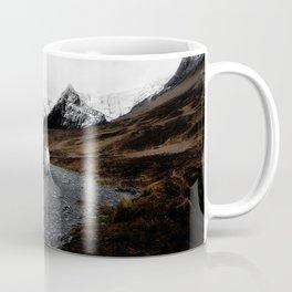 SHEEP - MOUNTAINS - SNOW - ROAD - PHOTOGRAPHY - FUNNY Coffee Mug