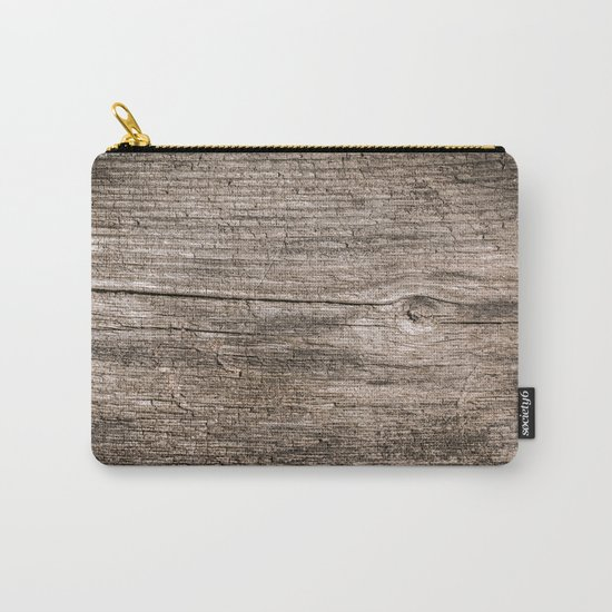 The old boards . Wood . Carry-All Pouch