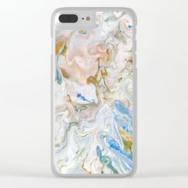 Abstract modern marbel wavy painting pattern Clear iPhone Case