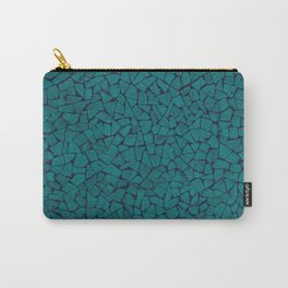Teal Lumber Mosaic Pattern Carry-All Pouch
