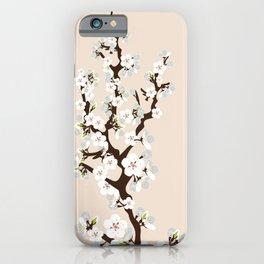Japanese Sakura Cherry Blossoms (ivory/white) iPhone Case