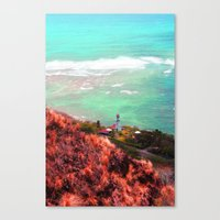 lighthouse Canvas Prints featuring Lighthouse by Kakel-photography