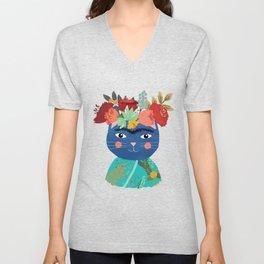 Frida Cat Unisex V-Neck
