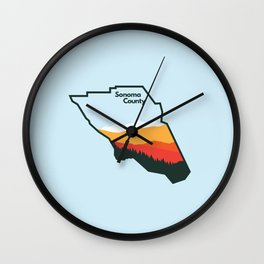 Sonoma County Wall Clock