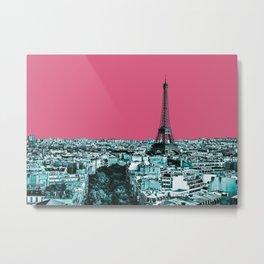 Paris Delineated Metal Print