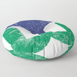 Hartford Whalers Distressed Logo - Defunct Hockey Team - New England & Massachusetts Sports Heritage  Floor Pillow