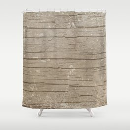 Nautical Driftwood Wood Grain Pattern Shower Curtain