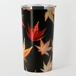 AUTUMN ROMANCE - LEAVES PATTERN #3 #decor #art #society6 Travel Mug