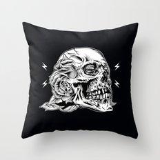 Skull Flower Art Print Throw Pillow