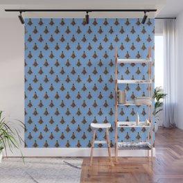 Freemasonry Pattern (Blue) Wall Mural