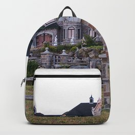 Stone Mansion on the River Backpack