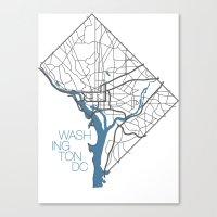 washington dc Canvas Prints featuring Washington, DC by linnydrez