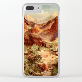 Moran, Thomas (1837-1926)  - Three wonderlands of the American West 1912 - Bright Angel Trail, Clear iPhone Case