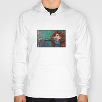 brave Hoodies featuring Brave by Kimberly Castello